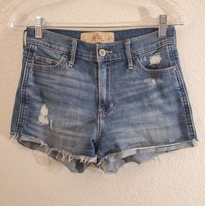Hollister jean shorts size 1 high rise
